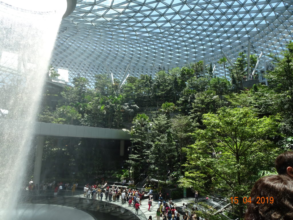 Marvel At The World's Tallest Indoor Waterfall